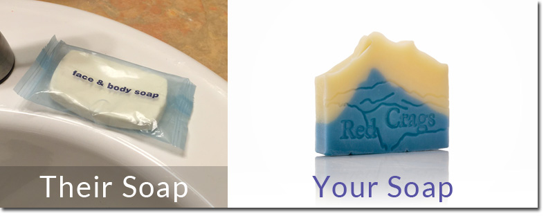 Guest Soap and Amenity Soap from Custom Soap Colorado